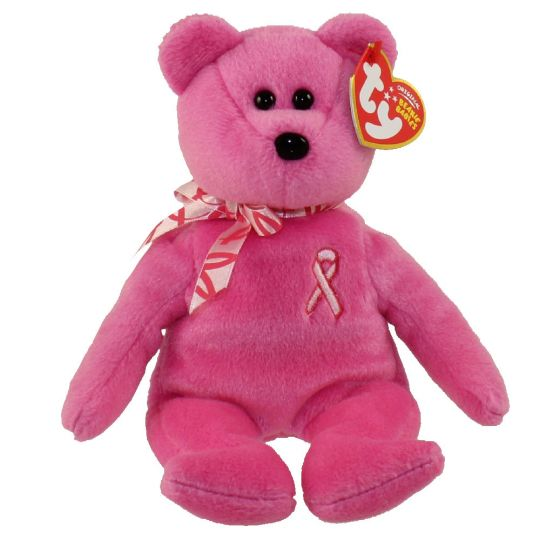 504d7e3286f TY Beanie Baby - HOPE the Pink Bear ( Breast Cancer Awareness ) (8 inch)   BBToyStore.com - Toys