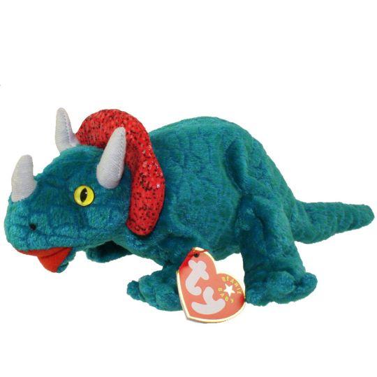ba0c09ca0b2 TY Beanie Baby - HORNSLY the Dinosaur (8.5 inch)  BBToyStore.com - Toys