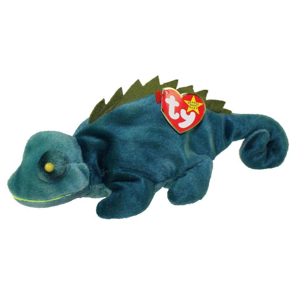 f68117e3e42 TY Beanie Baby - IGGY the Iguana (dark fabric w  spikes) (9.5