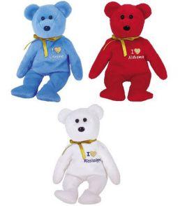 TY Beanie Babies - I LOVE STATE BEAR TRIO (Set of 3 - Alabama 9d9575fc44ea
