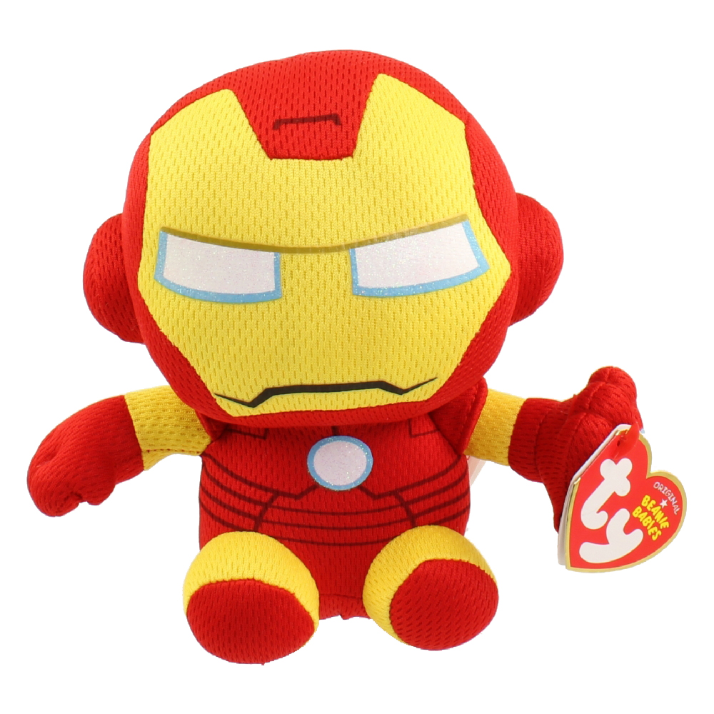 ty beanie baby iron man marvel toys. Black Bedroom Furniture Sets. Home Design Ideas