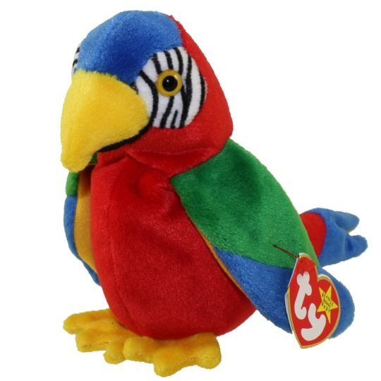 TY Beanie Baby - JABBER the Parrot (6.5 inch)  BBToyStore.com - Toys ... c444f1a2231