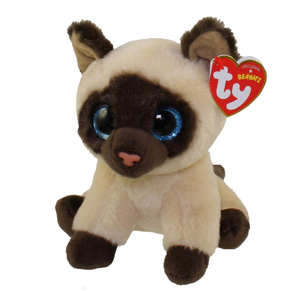 TY Beanie Baby - JADEN the Siamese Cat (6 inch)  BBToyStore.com - Toys 5afc2545f1e6
