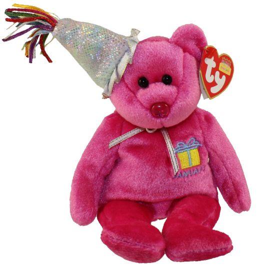 TY Beanie Baby - JANUARY the Teddy Birthday Bear (w  hat) (9.5 inch)   BBToyStore.com - Toys ee5425941e4