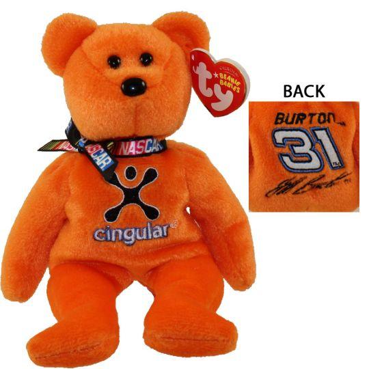 TY Beanie Baby - JEFF BURTON  31 the Nascar Bear (8.5 inch)  BBToyStore.com  - Toys b37ea7f462d