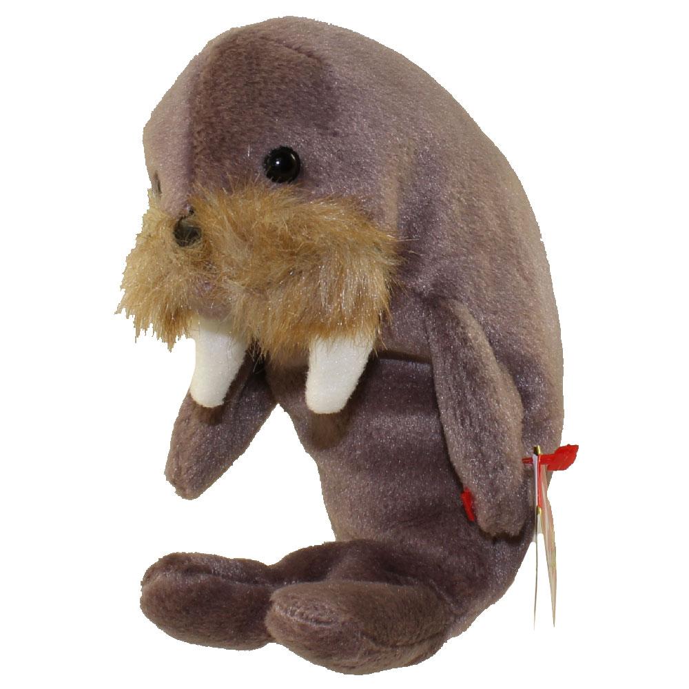 ty beanie baby - jolly the walrus  7 inch   bbtoystore com