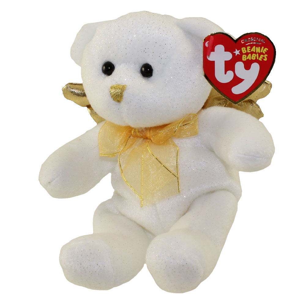 TY Beanie Baby - JUBILANT the Angel Bear (Gold Wings - Cracker Barrel  Exclusive) (6.5 inch)  BBToyStore.com - Toys 63baed5fd23