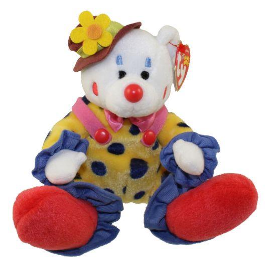 TY Beanie Baby - JUGGLES the Clown Bear (6 5 inch)