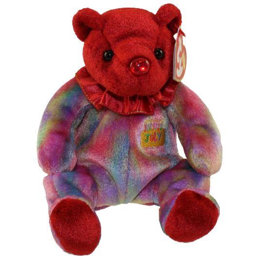 TY Beanie Baby - JULY the Birthday Bear (7.5 inch)  BBToyStore.com - Toys 8053a8a08e5
