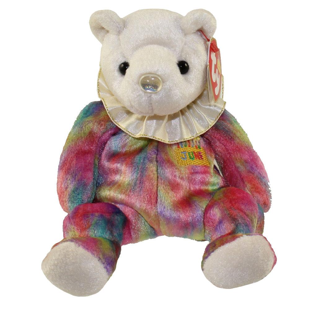 TY Beanie Baby - JUNE the Birthday Bear (7.5 inch)  BBToyStore.com - Toys bbc9689d455