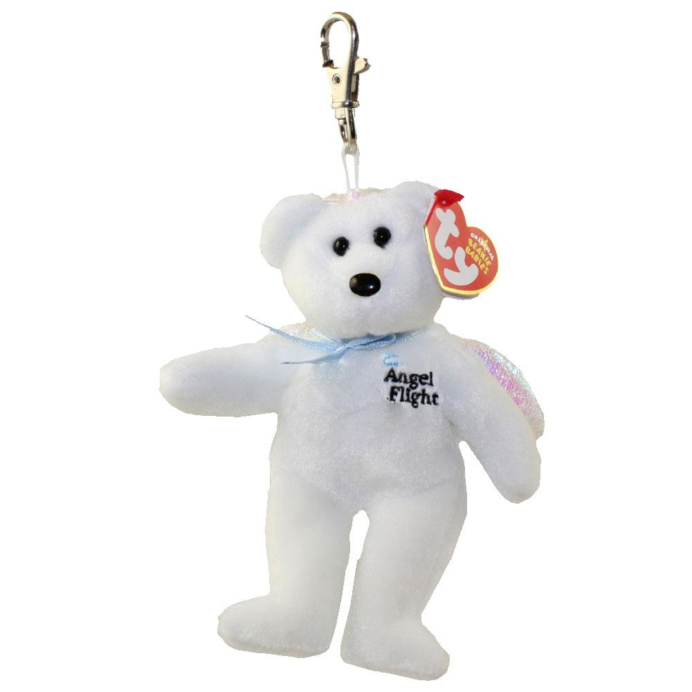 b05674051ecd0 TY Beanie Baby - ALPHA the Angel Flight Bear ( Metal Key Clip - Australian  Exclusive