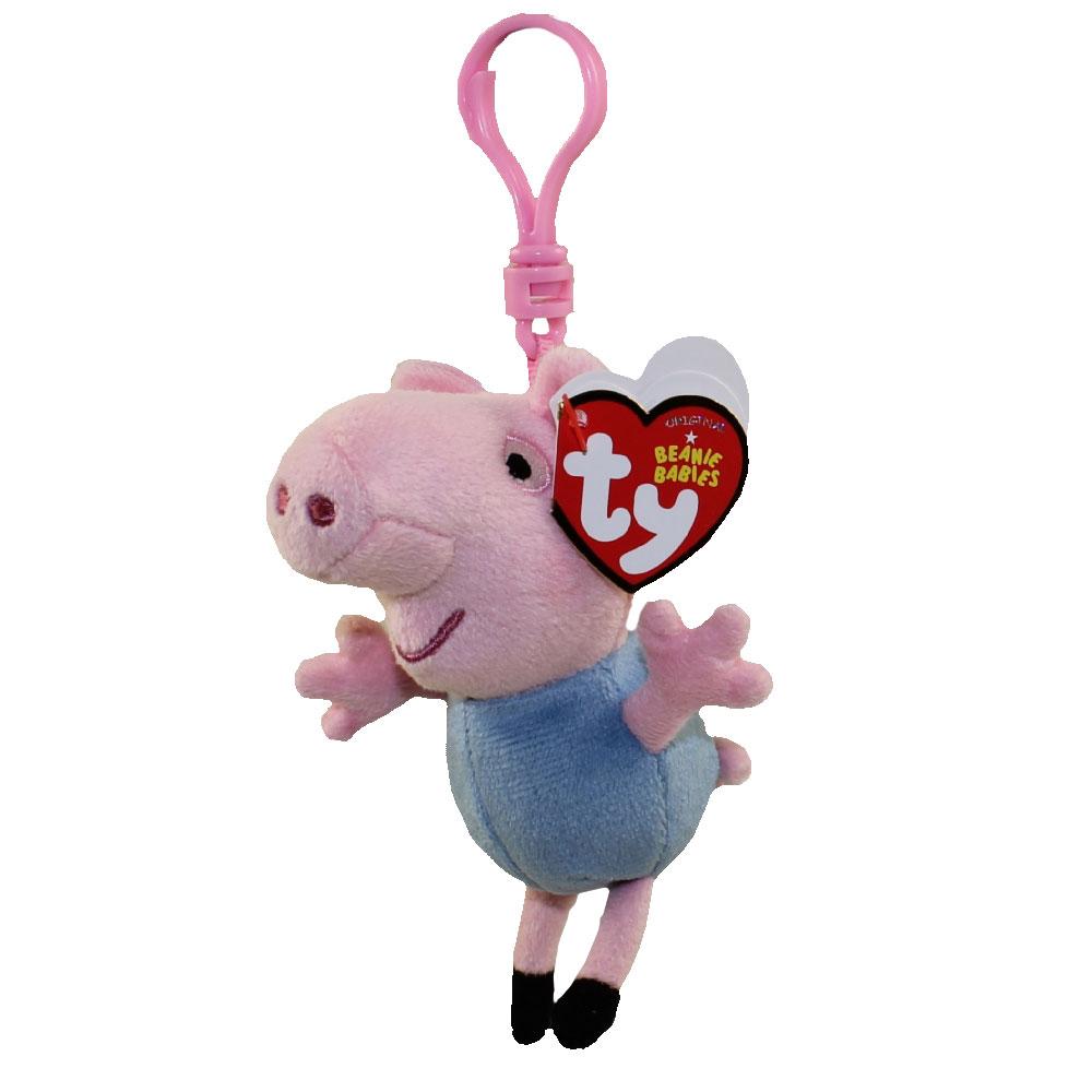 TY Beanie Baby - GEORGE the Pig ( Plastic Key Clip - Peppa Pig ) ( 1bae0b074ec9