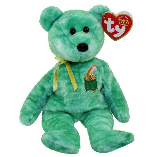 d88a45aa345 TY Beanie Baby - KILLARNEY the Irish Bear (8.5 inch)  BBToyStore.com - Toys