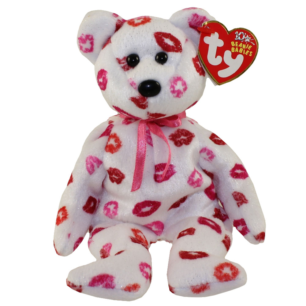 1468fe0d7ab TY Beanie Baby - KISSY the Bear (9 inch)  BBToyStore.com - Toys ...