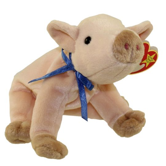 TY Beanie Baby - KNUCKLES the Pig (5 inch)  BBToyStore.com - Toys ... 46a06eea022