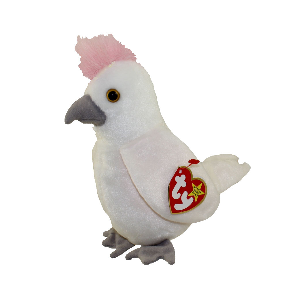 TY Beanie Baby - KUKU the Cockattoo Bird (6.5 inch)