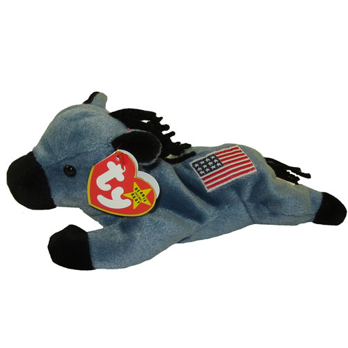 Ty Beanie Baby Lefty The Donkey Original Release 4th Gen Hang Tag 8 Inch Bbtoystore Com Toys Plush Trading Cards Action Figures Games Online Retail Store Shop Sale