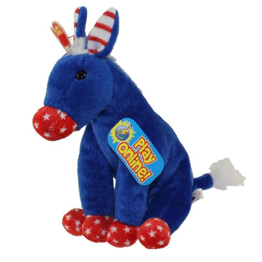 Ty Beanie Baby 2 0 Lefty The Donkey 2008 6 5 Inch Bbtoystore Com Toys Plush Trading Cards Action Figures Games Online Retail Store Shop Sale