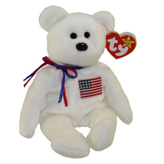ec1fa1a42f1 TY Beanie Baby - LIBEARTY the Bear (Original Version - 4th Gen hang tag) (8  inch)  BBToyStore.com - Toys