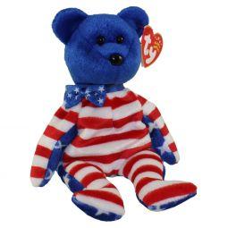 f4b7a41bb05 TY Beanie Baby - LIBERTY the Bear (Blue Head Version) ...