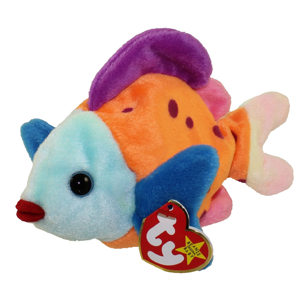 Ty beanie baby lips the fish 8 inch for Fish beanie baby