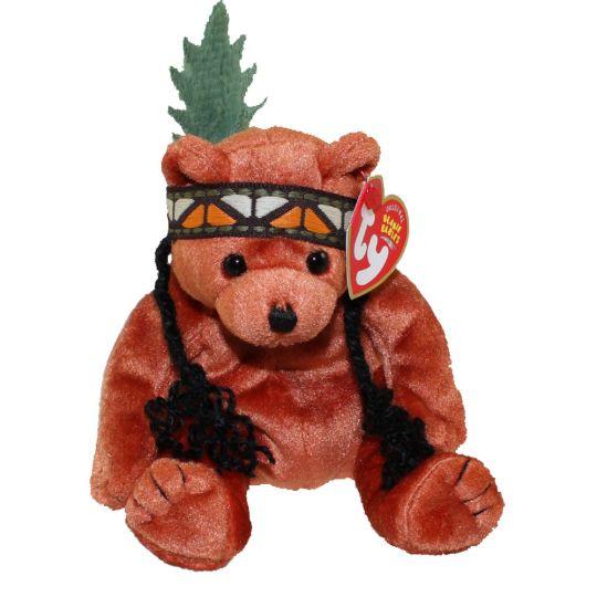 0739efae1ab TY Beanie Baby - LITTLE FEATHER the Bear (7 inch)  BBToyStore.com - Toys