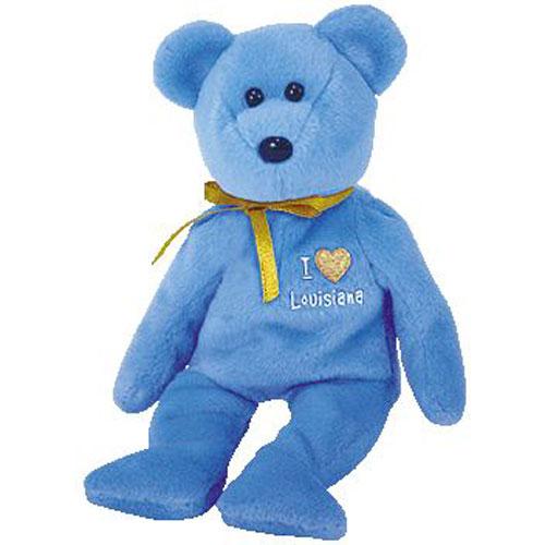 cd81acadb19 TY Beanie Baby - LOUISIANA the Bear (I Love Louisiana - State Bear) (8.5  inch)  BBToyStore.com - Toys