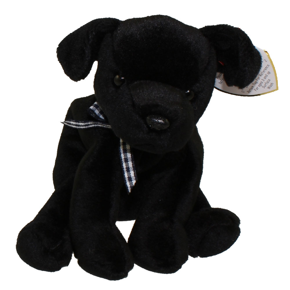 Ty Beanie Baby Luke The Black Lab 5 Inch Bbtoystore