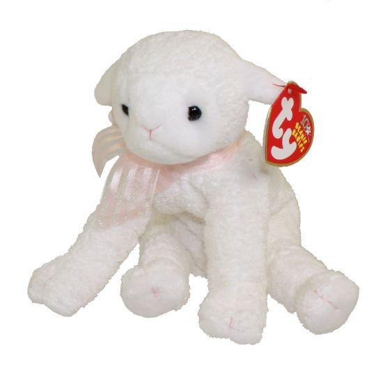 1eb0013bbc6 TY Beanie Baby - LULLABY the Lamb (6 inch)  BBToyStore.com - Toys ...