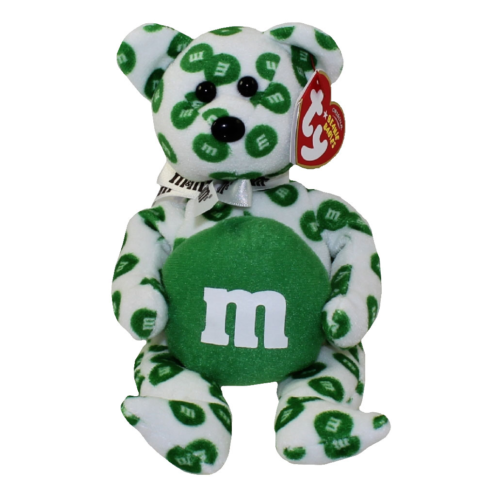 Ty beanie baby green the m m 39 s bear walgreen 39 s for Bb shop