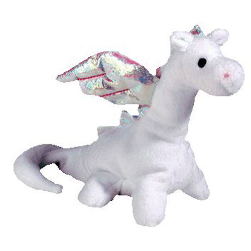4a162ef7d66 TY Beanie Baby - MAGIC the White Dragon (4th Gen hang tag) (7 inch)   BBToyStore.com - Toys