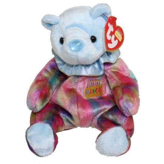 efcb70eb15e TY Beanie Baby - MARCH the Birthday Bear (7.5 inch)  BBToyStore.com - Toys