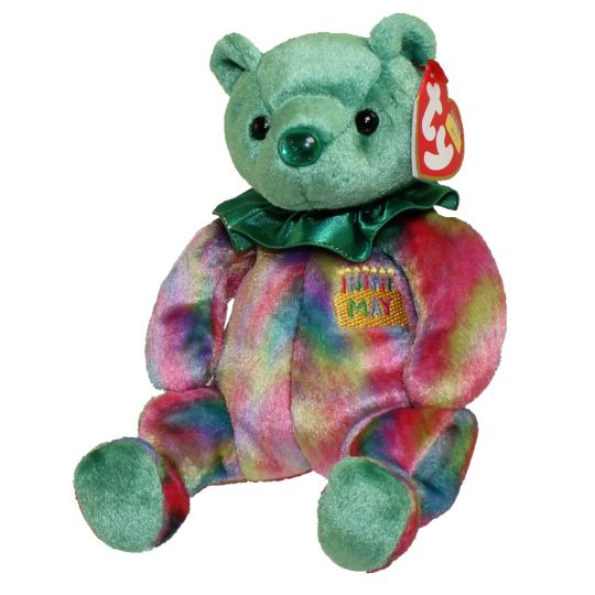 001645f970e TY Beanie Baby - MAY the Birthday Bear (7.5 inch)  BBToyStore.com - Toys