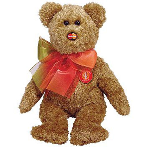40e9aadaa39 TY Beanie Baby - MC MASTERCARD Bear Anniversary Edition  4 (Credit Card  Exclusive) (8.5 inch)  BBToyStore.com - Toys