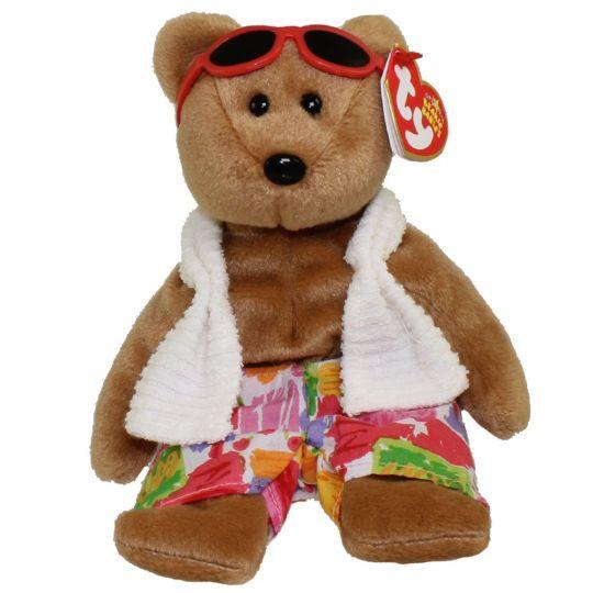 TY Beanie Baby - MIAMI the Bear (8.5 inch): BBToyStore.com - Toys ...