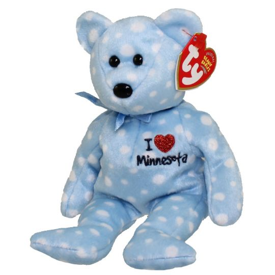 b24462abc88 TY Beanie Baby - MINNESOTA the Bear (I Love Minnesota - State Exclusive) (9  inch)  BBToyStore.com - Toys