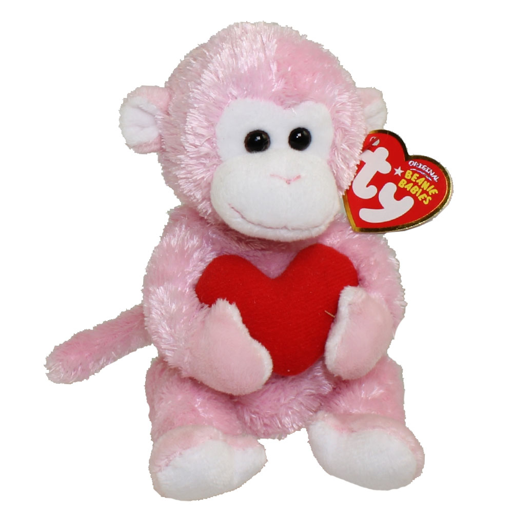 TY Beanie Baby   MISCHIEF The Valentineu0027s Monkey (5 Inch)
