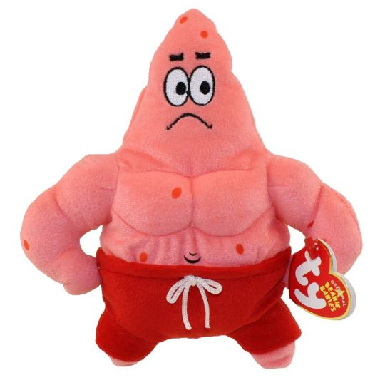 a7d4ad45239 TY Beanie Baby - PATRICK STAR ( MUSCLE MAN STAR ) (7 inch)  BBToyStore.com  - Toys