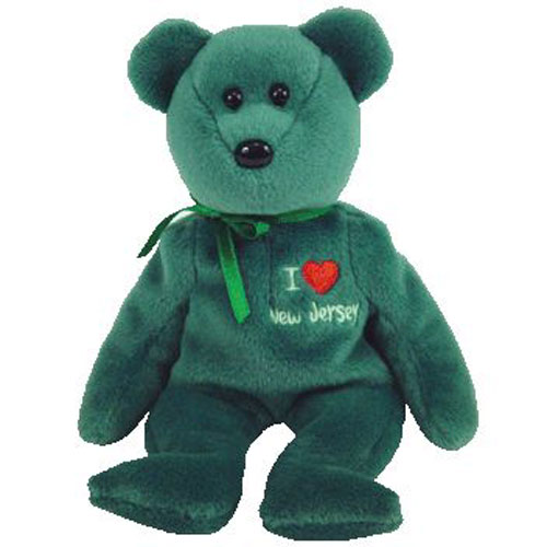 TY Beanie Baby - NEW JERSEY the Bear (I Love New Jersey - State Exclusive b59a62f15679