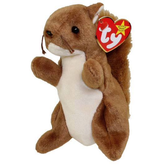 4b1d7ceee67 TY Beanie Baby - NUTS the Squirrel (5.5 inch)  BBToyStore.com - Toys ...