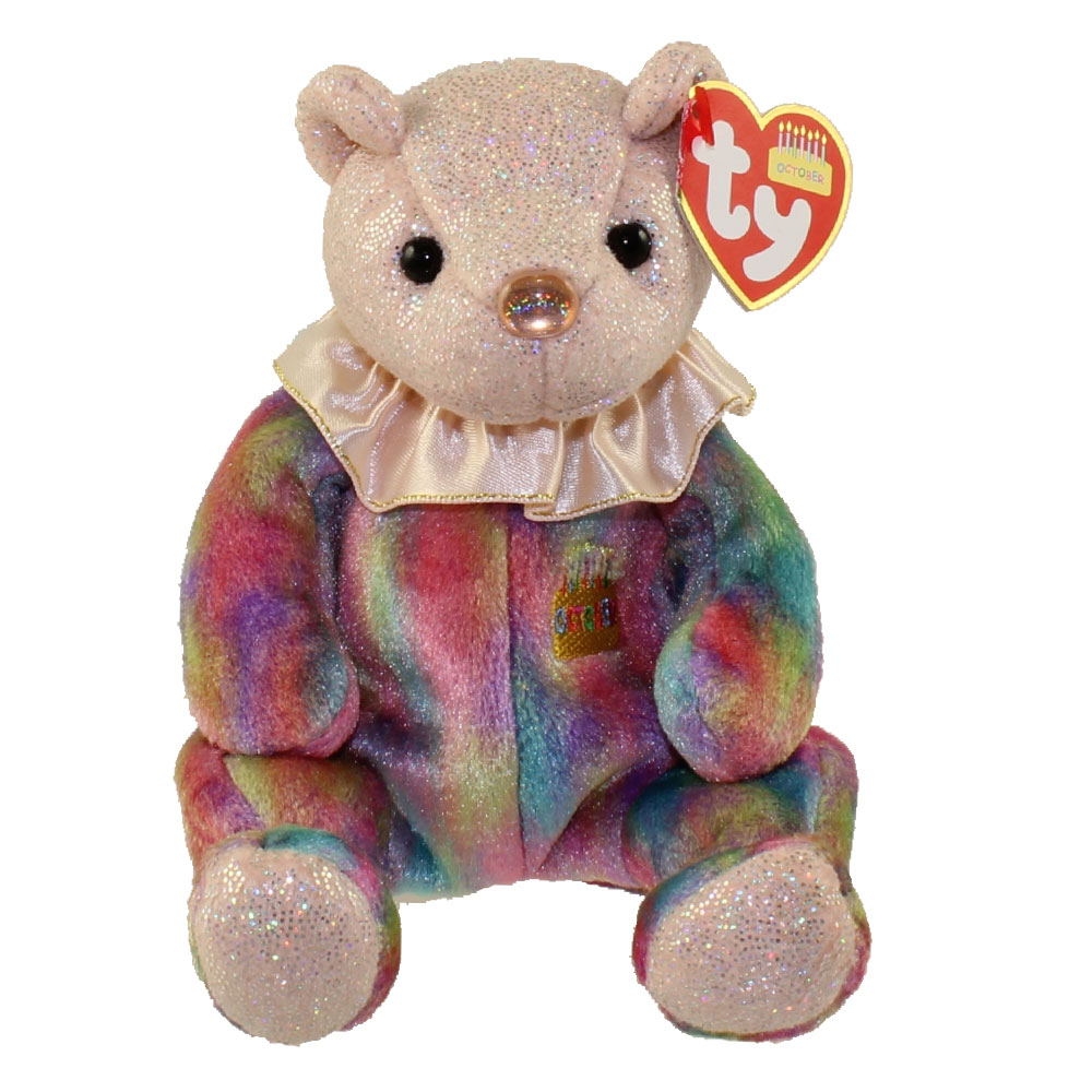 TY Beanie Baby - OCTOBER the Birthday Bear (7.5 inch)  BBToyStore.com -  Toys 37b072da0c58