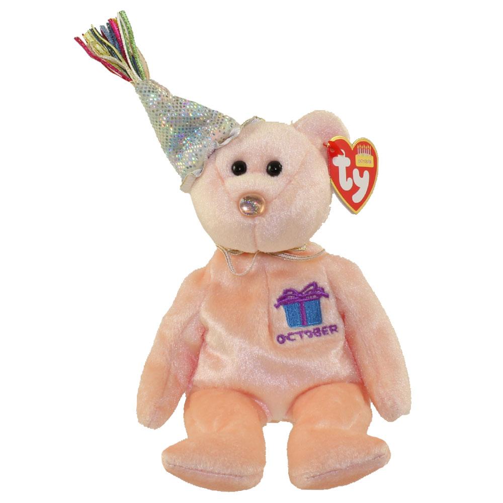 afe40f2da7c TY Beanie Baby - OCTOBER the Teddy Birthday Bear (w  hat) (9.5