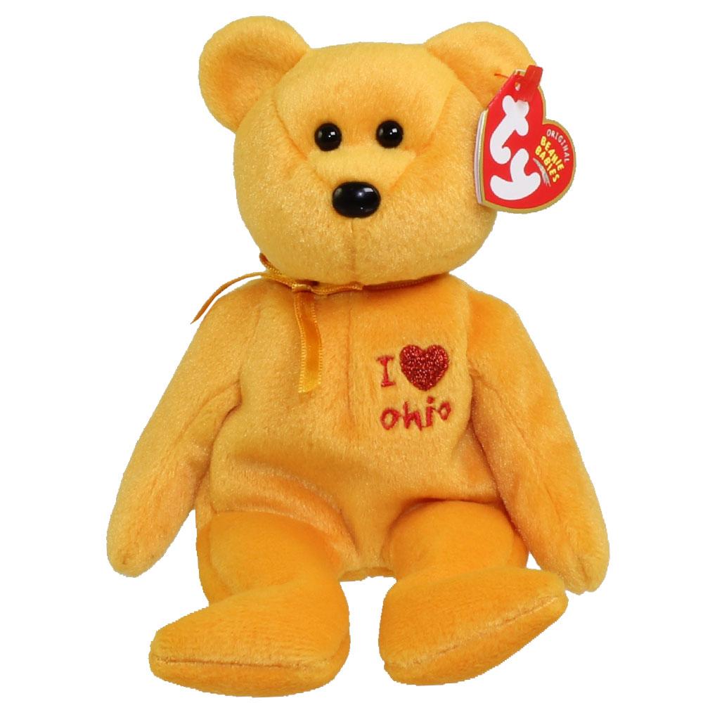 Ty Beanie Baby Ohio The Bear I Love Ohio State