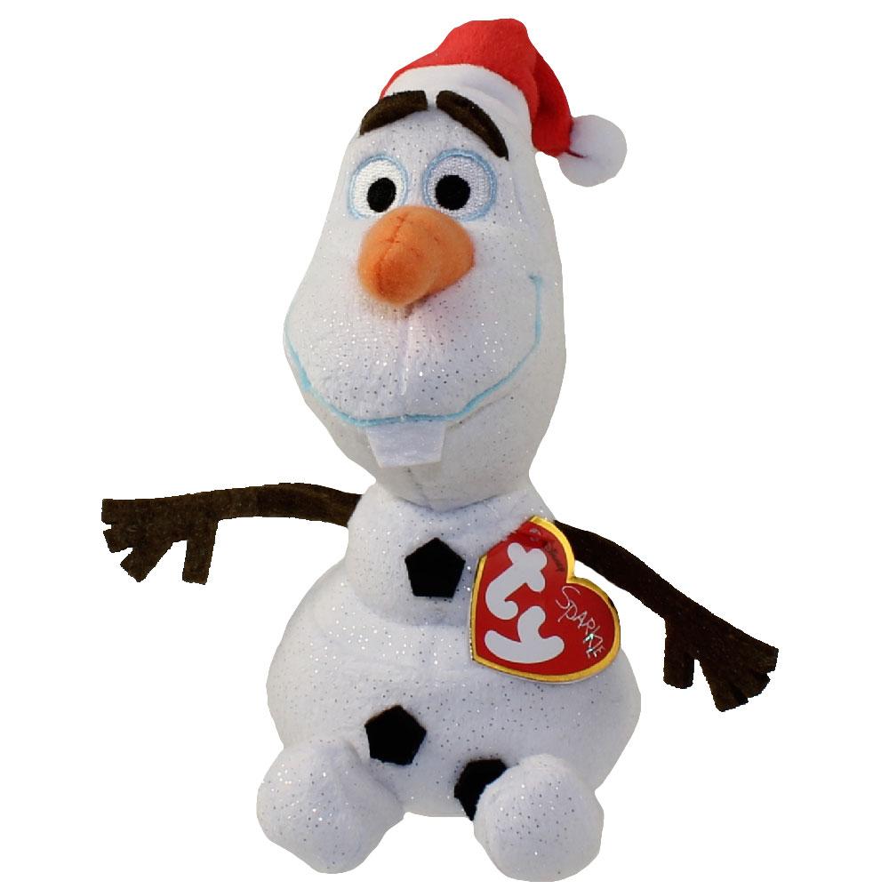 ty beanie baby olaf the snowman with santa hat disney frozen 65 inch - Snowman Santa