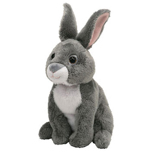 Ty Beanie Baby Orchard The Grey Bunny Rabbit 7 Inch