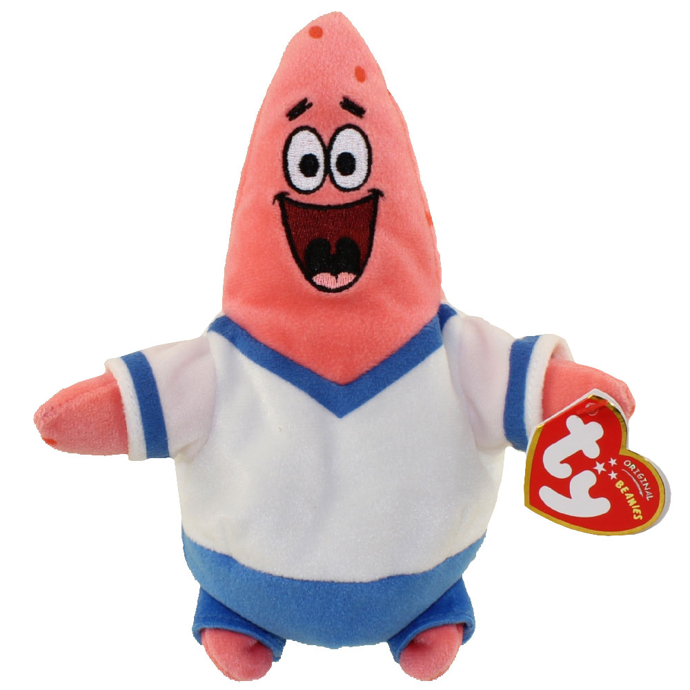 ty beanie baby patrick star he shoots he scores uk exclusive
