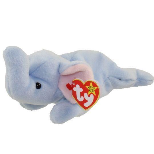 TY Beanie Baby - PEANUT the Elephant (light blue) (9 inch)  BBToyStore.com  - Toys f98ad4a2d182