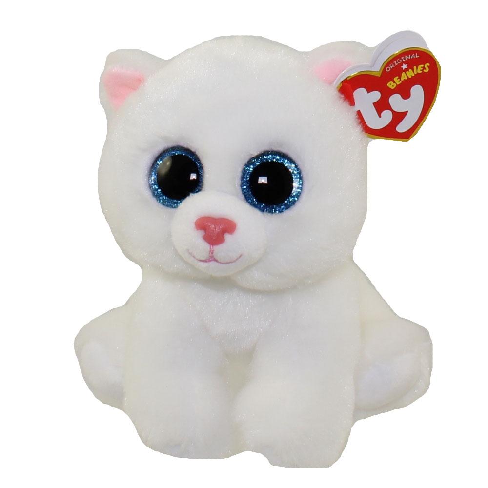 ca2fdacb285 TY Beanie Baby - PEARL the White Cat (6 inch)  BBToyStore.com - Toys ...