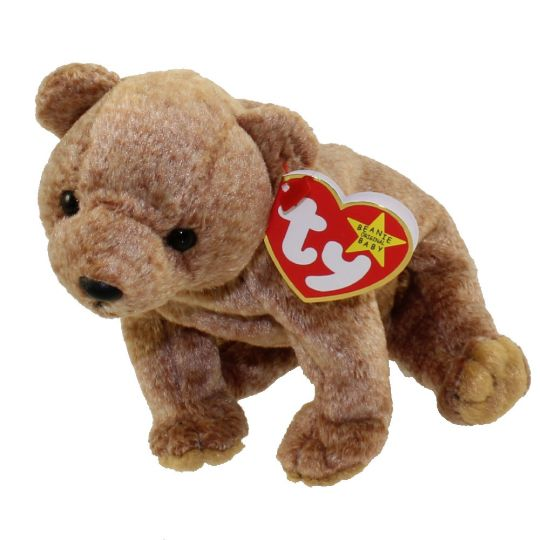 TY Beanie Baby - PECAN the Gold Bear (5.5 inch)  BBToyStore.com - Toys 06e6d655863