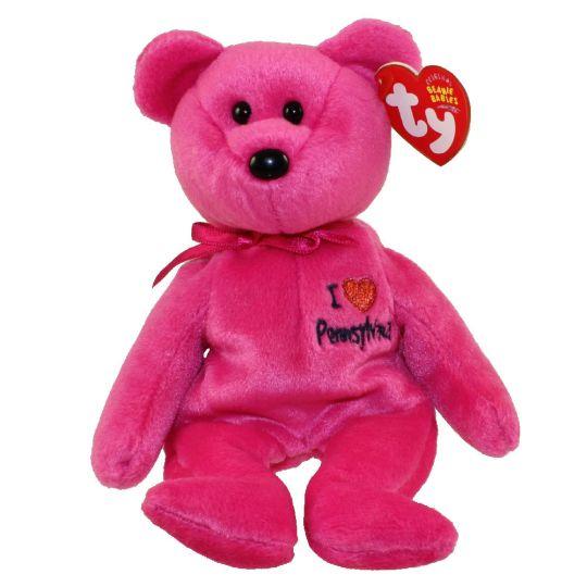 MINT with MINT TAGS TY I LOVE PHILADELPHIA  the BEAR  BEANIE BABY